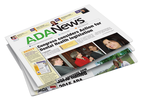 Three stacked version of ADA News